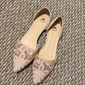 Madison by Shoedazzle Nude Lace Flats